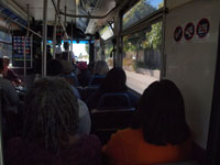 ロサンゼルスのバスの車内の画像002