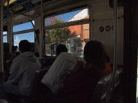 ロサンゼルスのバスの車内の画像004