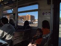 ロサンゼルスのバスの車内の画像005