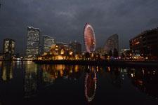 横浜の大観覧車の夜景の画像001