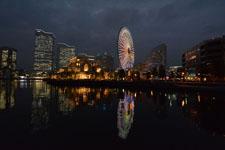 横浜の大観覧車の夜景の画像002