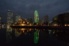 横浜の大観覧車の夜景の画像003