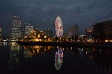 横浜の大観覧車の夜景の画像004