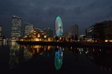 横浜の大観覧車の夜景の画像005