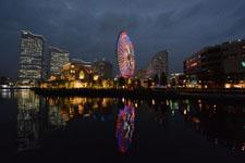 横浜の大観覧車の夜景の画像006