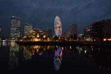 横浜の大観覧車の夜景の画像007