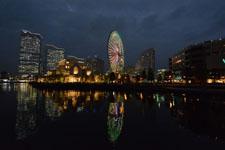 横浜の大観覧車の夜景の画像008