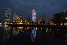 横浜の大観覧車の夜景の画像009