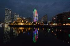 横浜の大観覧車の夜景の画像010