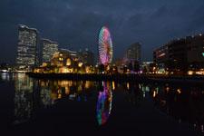 横浜の大観覧車の夜景の画像011