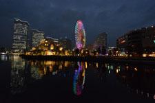 横浜の大観覧車の夜景の画像012