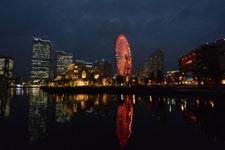 横浜の大観覧車の夜景の画像013