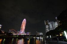 横浜の大観覧車の夜景の画像015