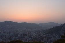 夕焼けの中の長崎港の画像002