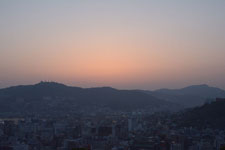 夕焼けの中の長崎港の画像004