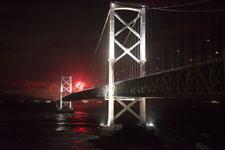 鳴門大橋の花火の画像001
