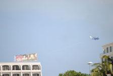 カンクンの飛行機による広告