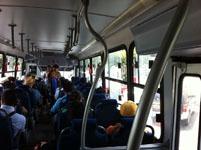 カンクンのバスの車内の画像001