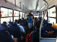 カンクンのバスの車内の画像003