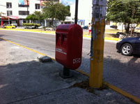 メキシコの郵便ポスト