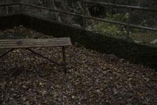 大釜の滝のベンチ