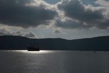 芦ノ湖に浮かぶ海賊船の画像004