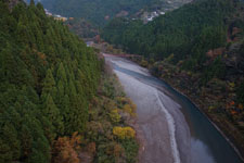 別府峡の渓流の画像002