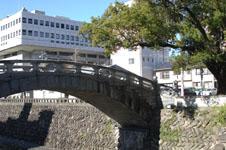 長崎の中島川にかかる橋の画像001