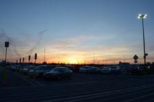 ウォールマートの夕焼けの画像003