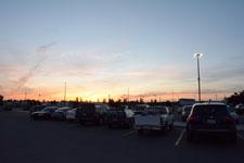 ウォールマートの夕焼けの画像004
