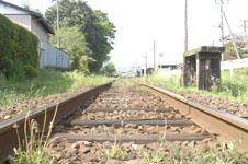 養老渓谷の線路の画像001