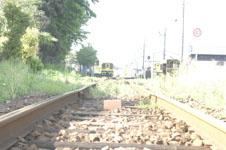 養老渓谷の線路の画像007