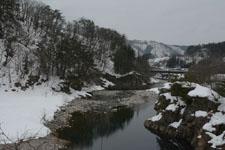 白川郷の川の画像001