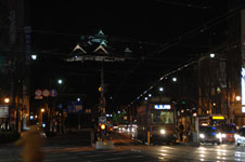 ライトアップされた熊本城の天守閣の画像005