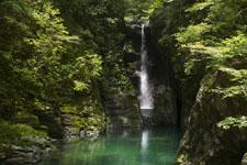 安居渓谷の滝の画像001