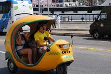 キューバ ハバナ バイクタクシー