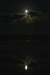 釧路湿原にかかる月の画像013