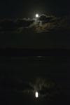 釧路湿原にかかる月の画像014