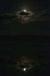 釧路湿原にかかる月の画像015