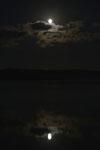 釧路湿原にかかる月の画像016