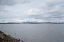 イエローストーン国立公園の湖と山の画像002