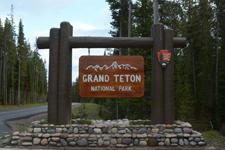 グランド・ティトン国立公園の看板