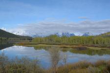 グランド・ティトン国立公園の湖と山の画像008