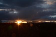 イエローストーン国立公園の夕日の画像001