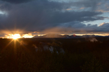イエローストーン国立公園の夕日の画像002