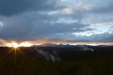 イエローストーン国立公園の夕日の画像003