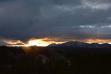 イエローストーン国立公園の夕日の画像004