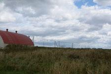 野付半島の草原と雲の画像001