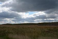 野付半島の草原と雲の画像002