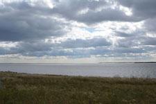 野付半島の草原と雲の画像003